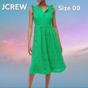 NEW JCrew Eyelet dress green Size 00